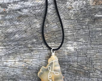 LOVE wire wrapped pendant with ammo cap.