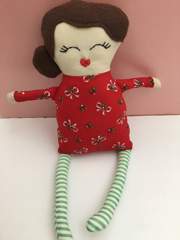 Customizable Cloth Doll Christmas Handmade Rag Doll Christmas Decor