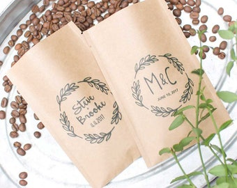 Rustic Summer Wedding Favors-Personalized Coffee Wedding Favor-Outdoor Wedding-Fall Wedding Favors-Bridal Shower Favors-Coffee Wedding Gift