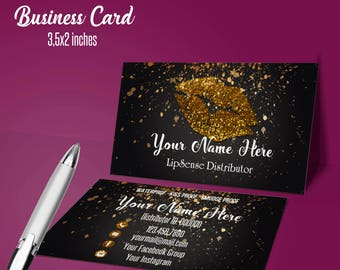 LipSense Business Card/ lipsense card/ custom card/ for SeneGence / lipsense distributor / LipSense business/ Printable