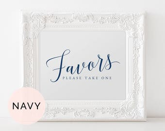 Navy Wedding Favors Sign Printable, Favors Wedding Table Sign, Printable Favors Sign, Guest Favor Wedding Sign, Guest Favor Sign Wedding