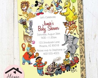 Little Golden Book Baby Shower Invitation, Little Golden Book Shower Invite, Storybook Invitation, Storybook Shower, Printable, 0189