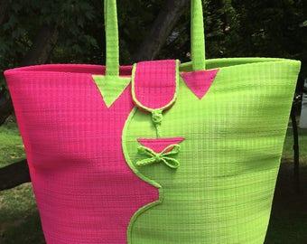 Tamia Tote, Custom Tote, Market Bag, Beach Bag, Tote Bag