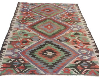 4x7 rug, kitchen rug, 4x7 vintage rug, kitchen runner, tapis berbere, tapis marocain, teppich vintage, alfombras, alfombra trapillo, kilim