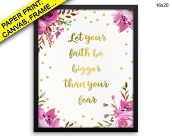 Fear Wall Art Framed Canvas Print Fear Framed Wall Art Poster Fear Encouraging Art Encouraging Print Fear Canvas Art Fear Wall Art Faith