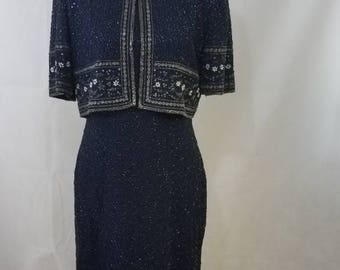 Beautiful Blue vintage beaded dress
