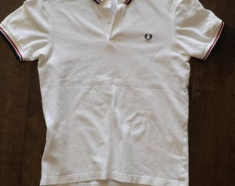 Fred Perry Withe collar Shirt