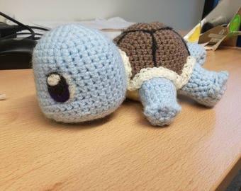 Crochet Squirtle Stuffed Plush Pokemon Amigurumi