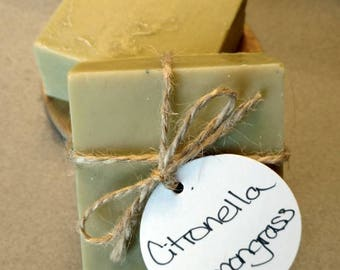 Citronella and Lemongrass - Handmade Soap - Natural Soap - Cold Process Soap