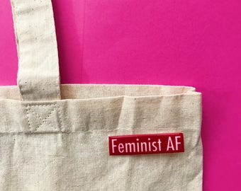 Feminist AF Pin - holiday gifts - pins - pop culture pins - supreme