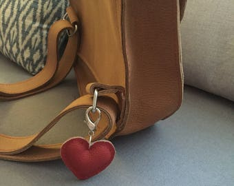 Leather Heart charms