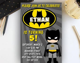 Batman Invitation, Batman Invites, Batman Invitations, Batman Birthday Invitation, Batman Invites,Batman Party Invitations,Batman Printables