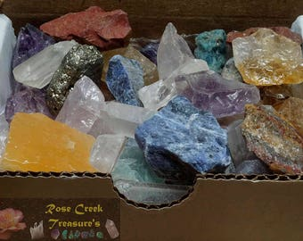 Crafters Collection 1/2 Lb Gems Crystals Natural Mineral Specimens