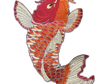Big Fish Appliques, Embroidered Patches