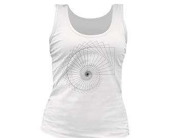 spiral print woman tank top