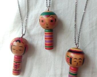 Kokeshi Necklaces