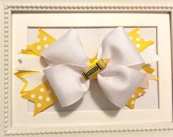 Yellow Crayon Bow