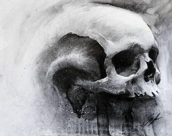 Skull- Original Charcoal Artwork