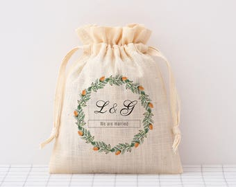 custom wedding favor bags, cotton, wedding candy bag wedding welcome bag favour bags Personalized drawstring pouch candy bags small