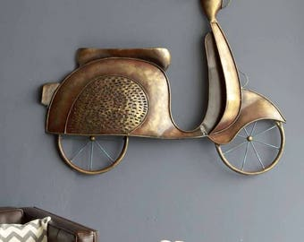 Iron Scooty Hanging Wall Decor