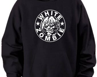 White Zombie Logo Hoodie Mens Sizes S M L Xl Xxl Xxxl 4xl 5xl