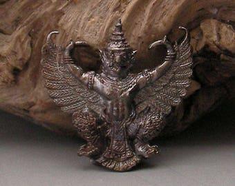 Real Power Buddha Amulet Praya Krut Garuda LP Auen Wat Dang Tai from  Ayuttaya