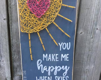 You make me happy (sunshine) sign