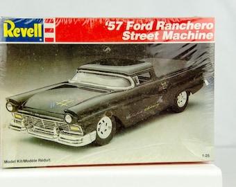 Sealed Rare Vintage Revell 1957 '57 Ford Ranchero Street Machine 1/25 Model Car