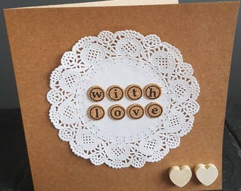 Handmade kraft with love card