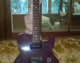 beautiful hademade custom guitar electric