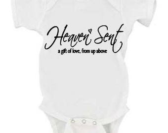 Heaven Sent Rainbow Baby (infertility/ttc/ivf/iui/baby dust/pcos clothing)