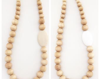Wood//Teething//Necklace//Natural//gift//shower