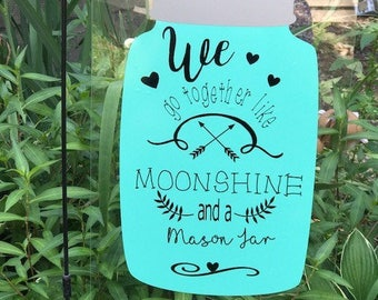Garden Flag Moonshine Mason Jar