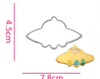 UFO Cookie Cutter- Fondant Biscuit Mold - Pastry Baking Tool Set