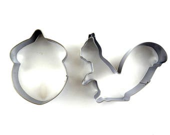 2pcs/Set Squirrel Cookie Cutter- Fondant Biscuit Mold - Pastry Baking Tool Set