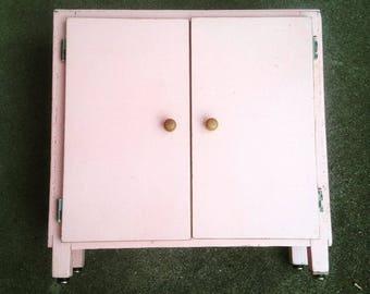 Pink vintage doll wardrobe