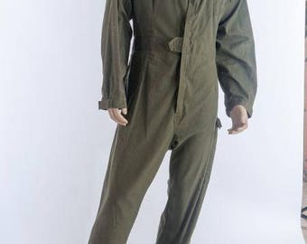 army surplus/military issue British olive green boiler suit coveralls