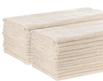 24 Pack Egyptian Cotton Luxury Bath Towel Free of Harsh Chemicals and Dyes Gets Softer With Each Wash We Donate to UNICEF
