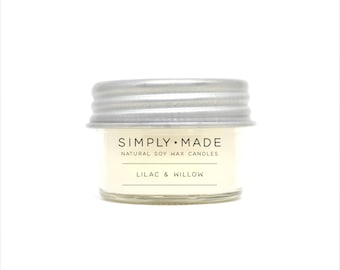 Soy Candles // Lilac & Willow // 4 oz Mason Jar Candles // Scented Candles // Modern Farmhouse Decor