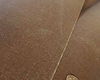 Waxed Canvas Fabric | Army Duck Field Tan | 58"