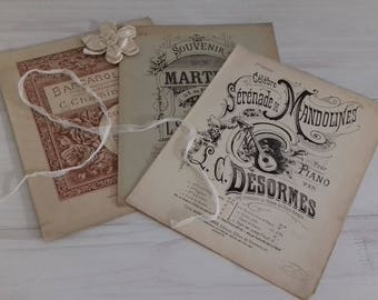 Sheet music antique late XIXth early XXth old sheet music antique sheet music France