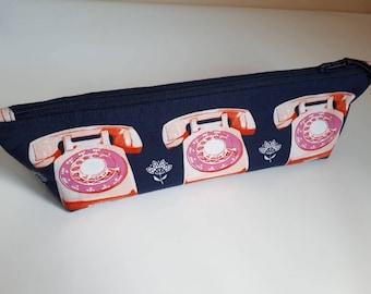 Long zipper pouch