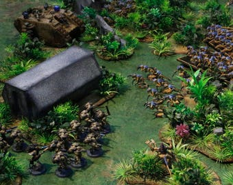 Huge Jungle Scenery Bundle - Wargaming Terrain for Tournaments - Warhammer 40k - Bolt Action