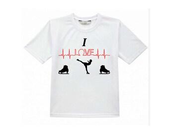 Tshirt - I LOVE skating
