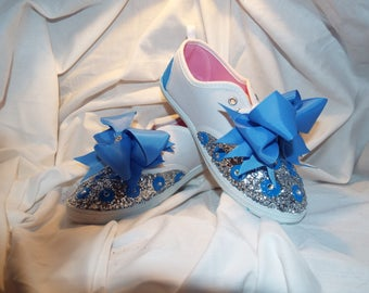 Young Girls Bling Dress Up Sneakers