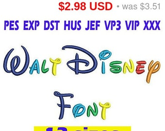Walt Disney font Embroidery/ Walt Disney Font embroidery design/ INSTANT download