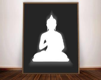 Buddha Print Buddha Poster Buddha Wall Art Meditation Buddah Decor Buddhist Decor Buddhist Art Zen Wall
