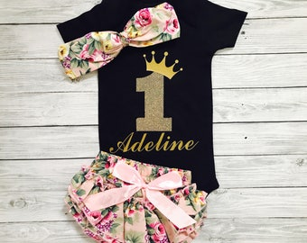 Baby Girl 1st Birthday Outfit, First Birthday Girl, First Birthday Outfit Girl, 1st Birthday Girl Outfit, First Birthday Outfit Girl Floral