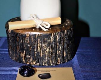 Goldstone Meditation Candle