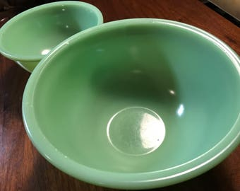 Green 1930's McK Mixing Bowls